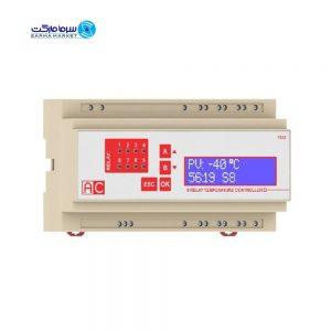 کنترلر دما هشت رله ( ترموستات 8 مرحله تک، تک سنسور و دو سنسور) AC مدل T8DS